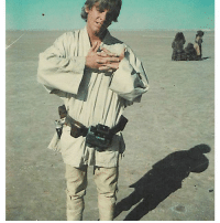 "Memes, 🤖, and Tunisia: ""Taken in Tunisia early morning Day 1 waiting for my 1st shot (emerging from home for robot auction)-Perhaps the very 1st"" - @hamillhimself ❤️ Do you remember when you watched Star Wars for the first time?"