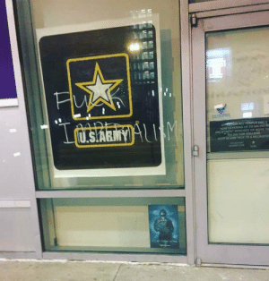 Taken outside of an Army recruitment office in Philadelphia, PA: Taken outside of an Army recruitment office in Philadelphia, PA