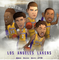Here is your Lakers starting 5✋🏽: TAKERS  30  RS  OS ANGELES LAKERS Here is your Lakers starting 5✋🏽