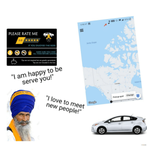 Taking an Uber in a urban area starter pack: Taking an Uber in a urban area starter pack