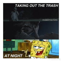 In some parallel universe, spongebob took out the trash at the same time Dale went for his night time walk. The walker that killed him was also named the hash slinging slasher. DaddyDaleAfterDark . . . . thewalkingdead twd amc dalehorvath daddydale daddydalehorvath spongebob: TAKING OUT THE TRASH  twdale reactions  AT NIGHT  LJ In some parallel universe, spongebob took out the trash at the same time Dale went for his night time walk. The walker that killed him was also named the hash slinging slasher. DaddyDaleAfterDark . . . . thewalkingdead twd amc dalehorvath daddydale daddydalehorvath spongebob