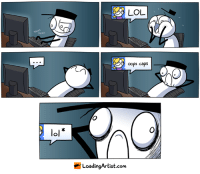 Funny, Memes, and Http: TAKKA  oops caps  Artist.com Not that funny http://www.loadingartist.com/comic/not-that-funny/