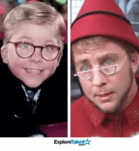 A Christmas Story, Elf, and Memes: Talent A  Explore Ralphie from 'A Christmas Story' also plays an elf in Elf...My head exploded... 😱🎄
