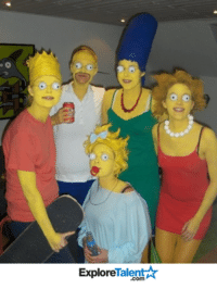 This family just nailed their Simpson's Costume! So awesome.... and a tiny bit terrifying. 😳😲: Talent A  Explore This family just nailed their Simpson's Costume! So awesome.... and a tiny bit terrifying. 😳😲