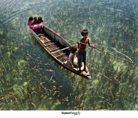 Children ride on a boat on a crystal clear lake in Malaysia. Wow 😍: Talent  Explore Children ride on a boat on a crystal clear lake in Malaysia. Wow 😍