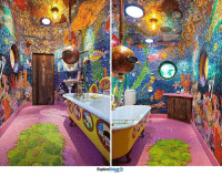 """This """"Yellow Submarine"""" themed bathroom is to die for!: Talent  Explore This """"Yellow Submarine"""" themed bathroom is to die for!"""