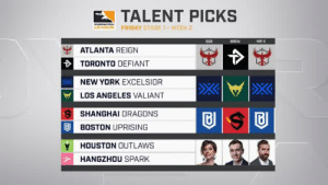 Friday, New York, and Rap: TALENT PICKS  EABLE  FRIDAY STAGET-WEEK 2  SOE  BREN  MR X  ATLANTA REIGN  TORONTO DEFIANT  NEW YORK EXCELSIOR  LOS ANGELES VALIANT  SHANGHAI DRAGONS  BOSTON UPRISING  Y HOUSTON OUTLAWS  HANGZHOU SPARK dmoncasino:Soe the rap legend