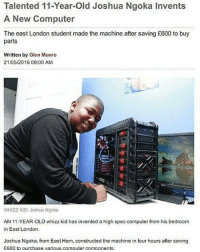 Talented 11 Year Old Joshua Ngoka Invents A New Computer