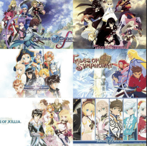 """I would honestly adore a """"Tales Of"""" game done similar to Dissidia or Marvel Vs Capcom. Some of the match ups would be amazing. Velvet against Richard...: Talesof)Grac  Tales of Berseria  Fbes  ILES OF  SUMPHONMT  Talesne Vosnenia  DIEFUNUTAA DITION  S OF XILLIA.  ezel  Mikleo  Sa  Jales of Zestiria- I would honestly adore a """"Tales Of"""" game done similar to Dissidia or Marvel Vs Capcom. Some of the match ups would be amazing. Velvet against Richard..."""