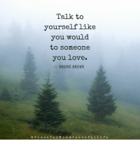 Life, Love, and Memes: Talk to  yourself like  you would  to someone  you love.  BRENE BROWN  e P e a c e f u l Min d P e a c e f u l Life