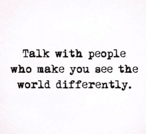 Memes, World, and 🤖: Talk with people  who make you see the  world differently.