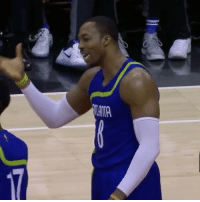While Dwight Howard and Dennis Schroder were arguing, Steph buried a 3-pointer from the wing. 😂: TAMA While Dwight Howard and Dennis Schroder were arguing, Steph buried a 3-pointer from the wing. 😂