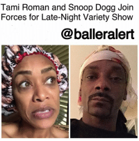 "Definitely, Instagram, and Memes: Tami Roman and Snoop Dogg Join  Forces for Late-Night Variety Show  @balleralert Tami Roman and Snoop Dogg Join Forces for Late-Night Variety Show-blogged by @thereal__bee ⠀⠀⠀⠀⠀⠀⠀⠀⠀ ⠀⠀ If you follow reality star TamiRoman or hip-hop icon SnoopDogg on Instagram, then you're definitely familiar with their videos that deliver some humorous commentary on pop culture topics. ⠀⠀⠀⠀⠀⠀⠀⠀⠀ ⠀⠀ With Roman's ""Bonnet Chronicles,"" she keeps it one hundred, discussing hot topics and current events, all while rocking her bonnet. ⠀⠀⠀⠀⠀⠀⠀⠀⠀ ⠀⠀ As for Snoop, he has also gone viral for a similar act, where he discusses current events while wearing a headscarf. ⠀⠀⠀⠀⠀⠀⠀⠀⠀ ⠀⠀ Recently the two connected online on one of Roman's Bonnet Chronicles. Snoop commented and said, ""I got my scarf on. When we gone have a one on one talk about this sh*t we keep seeing?"" ⠀⠀⠀⠀⠀⠀⠀⠀⠀ ⠀⠀ Well, now it looks like the two are finally joining forces for a late-night variety show which is tentatively titled ""Get Into It…Forizzle."" ⠀⠀⠀⠀⠀⠀⠀⠀⠀ ⠀⠀ The show will feature a candid discussion between the two about hot topics and current events, sketch comedy, and even some celebrity interviews, all while sporting their headgear. ⠀⠀⠀⠀⠀⠀⠀⠀⠀ ⠀⠀ Are you here for this collaboration?"