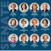 We can take back the Senate by electing these 12 pro-choice Democratic women! http://bit.ly/2yP8yRU: TAMMY  BALDWIN  MARIA  CANTWELL  WA  DIANNE  FEINSTEIN  CA  KIRSTEN  GILLIBRAND  NY  MAZIE HIRONO  HI  AMY  KLOBUCHAR  MN  CLAIRE  MCCASKILL  MO  JACKY ROSEN  NV  KYRSTEN  SINEMA  AZ  TINA SMITH  MN  DEBBIE  STABENOW  MI  ELIZABETH  WARREN  MA We can take back the Senate by electing these 12 pro-choice Democratic women! http://bit.ly/2yP8yRU