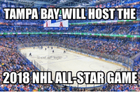 Can't wait but you know what would be cooler? Olympic hockey @NHL: TAMPA BAY WILL HOST THE  HAND  @nhl ref togic  2018 NHL ALL STAR GAME Can't wait but you know what would be cooler? Olympic hockey @NHL
