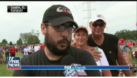 """""""I was worried he wouldn't be a good Republican and, honestly, he's changed my mind a lot."""" At a rally in Tampa this week, @GriffJenkins talked to a Never-Trumper who has become a @realDonaldTrump supporter.: TAMPA, FL  TUESDAY  FOX  NEWS  FOX &friends  chan nel """"I was worried he wouldn't be a good Republican and, honestly, he's changed my mind a lot."""" At a rally in Tampa this week, @GriffJenkins talked to a Never-Trumper who has become a @realDonaldTrump supporter."""