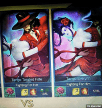 Goals, now I just need a girlfriend..: Tango Twisted Fate  Fighting For Her  36  10%  VS  Tango Evelynn  Fighting For Him  56%  VIA 9GAG.COM Goals, now I just need a girlfriend..