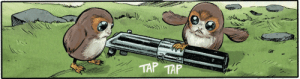 Tumblr, Appreciate, and Blog: TAP TAP kimineechan:  One minute to appreciate the porgs the TLJ comic adaption by Michael Walsh