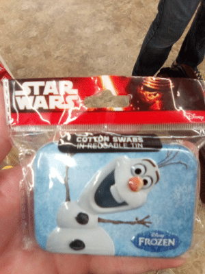 Frozen, Witch, and Wars: TAR  WARS  COTYON SWABS  IN REDSABLE TIN  FROZEN  poog9 Witch one is it