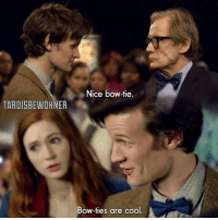 """TARDIGBEWOHNER  Nice bow-tie.  Bow-ties are cool This scene is from the episode: """"Vincent and the doctor"""" 😊😊 Bow ties are cool 😃"""