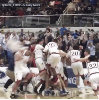"""Memes, 🤖, and States: @Tarek Fattal/LA. Daily News  201  32 Repost:@SportsCenter-""""Game-winning buzzer beater to head to the state tournament!"""" 🏀😳🙌 WSHH"""