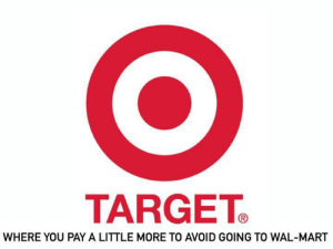 Love me some Target.: TARGET  WHERE YOU PAY A LITTLE MORE TO AVOID GOING TO WAL-MART Love me some Target.