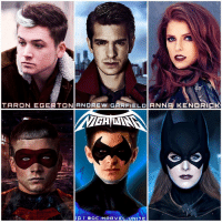 Anna, Batman, and Logic: TARON EGERTON ANDREW GARFIELD ANNA KENDR  IG I a DC. MARVEL UNITE Here's my First FanCast for The ' NIGHTWING' Movie that will be Directed by TheLegoBatmanMovie Director, ChrisMckay. I've said this before and I'll say it again… AndrewGarfield would make an Awesome DickGrayson ! Some people Love him others Hate him, but no one can doubt he's an extremely talented Actor. Marvel fucked him over with… TheAmazingSpiderMan Movies, so I think it's time he joins DC. Also TaronEgerton is my Number One FanCast for JasonTodd in The DCEU, he would make an Incredible RedHood alongside BenAffleck's Batman. And Lastly, AnnaKendrick as BarbaraGordon…She's really the logical actress to go with. She starred alongside @BenAffleck in TheAccountant, and she looks identical to BatGirl - Oracle. So all I must say is…Dear GeoffJohns…PLEASE MAKE THIS HAPPEN !!! Comment Below who you would Cast in The 'NIGHTWING' Movie ! DCExtendedUniverse 💥 Red Hood Art By : @SavageComics 👍🏽