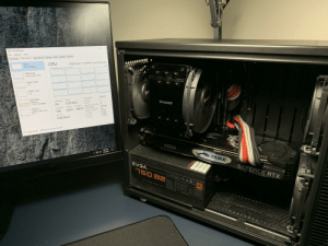 Cache, Duke, and Happy: Task Manager  File Options View  Performance App history Startup Users Details Services  Processes  AMD Ryzen 7 3700X 8-Core Processor  100%  CPU  CPU  5% 4.20 GHz  % Utilization over 60 seconds  Memory  5.5/32.0 GB (17 % )  Disk 0 (D:)  7%  Disk 1 (C)  1%  3.60 GHz  Base speed:  1  quilet  Ethernet  Speed  Sockets:  bequiet!  Utilization  Ethernet  4.20 GHz  Cores:  16  5%  S: 3.0 R: 224 Mbps  Logical processors:  Handles  Disabled  79913 Virtualization:  Hyper-V support  Threads  Processes  Yes  GPU 0  2633  NVIDIA GeForce R...  0%  512 KB  189  L1 cache  4.0 MB  L2 cache:  Up time  32.0 MB  L3 cache:  0:00:36:53  Open Resource Monitor  Fewer details  msi  4:02 PM  7/8/2019  DUKE  EV3AyPERNOVA CEAEFC  GEFORCE RTX  150 B2  75OW BRONZE POWER SUPPLY  AC Input  DC Output  50 C ambientfull load  115-240 VAC  Max Output, A  80  Combined W  NEES  24A  24A  PLUS  Output Power, P  BRONZE  120W  62A  150W 50c  744W  O.5A  3A  6W  15W  CORSAIR  110-82-0750 Super happy with the new Ryzen processors.
