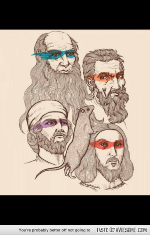 Teenage Mutant Ninja Turtles… Sort of.http://omg-humor.tumblr.com: TASTE OF AWESOME.COM  You're probably better off not going to Teenage Mutant Ninja Turtles… Sort of.http://omg-humor.tumblr.com