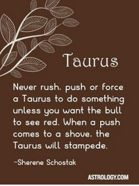 Feb 20, 2016. Your stars are shining brighter. If your emotional status is unresolved or complicated, it will soon begin to .. ...FOR FULL HOROSCOPE VISIT: http://horoscope-daily-free.net/taurus: Taurus  ever rush. push or force  a Taurus to do something  unless uou want the bull  to see red. When a push  comes to a shove. the  Taurus will stampede.  Sherene Schostak  ASTROLOGY.COM Feb 20, 2016. Your stars are shining brighter. If your emotional status is unresolved or complicated, it will soon begin to .. ...FOR FULL HOROSCOPE VISIT: http://horoscope-daily-free.net/taurus