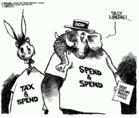 "Dank, 🤖, and Switch: TAX  SPEND  LIBERAL!  GOD  SPENS  SPEND  RAISED ""Revenue-neutral"" tax reform is a bait and switch. My weekly column at the link:  Cut, Don't Reform, Taxes http://ronpaulinstitute.org/archives/featured-articles/2017/february/06/cut-don-t-reform-taxes/"