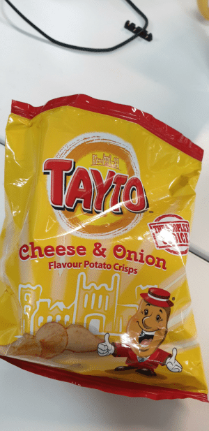 Precious, Lord of the Rings, and Onion: TAYIO  THES OPLES  IC  eheese & Onion  Flavour Potato Crisps What's Tayto's precious?