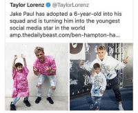"""<p><a href=""""http://memehumor.net/post/171059031833/where-are-both-of-their-parents"""" class=""""tumblr_blog"""">memehumor</a>:</p>  <blockquote><p>Where are both of their parents?</p></blockquote>: Taylor Lorenz o@TaylorLorenz  Jake Paul has adopted a 6-year-old into his  squad and is turning him into the youngest  social media star in the world  amp.thedailybeast.com/ben-hampton-ha...  Ul <p><a href=""""http://memehumor.net/post/171059031833/where-are-both-of-their-parents"""" class=""""tumblr_blog"""">memehumor</a>:</p>  <blockquote><p>Where are both of their parents?</p></blockquote>"""