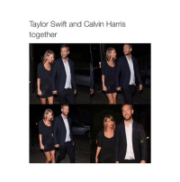 *someone makes a joke about her inspiration for her next album*: Taylor Swift and Calvin Harris  together *someone makes a joke about her inspiration for her next album*