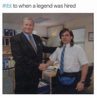 @_theblessedone has the dankest memes:  #tbt to when a legend was hired @_theblessedone has the dankest memes