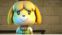 Target, Tumblr, and Blog: tddkart tumblr.com tddkart:Isabelle has a message for her enemies.