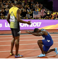 Thank you for the memories Usain! @justingatlin takes the gold over @usainbolt in his last solo race ever. Will there ever be a greater track star? ⚡️: TDK  BOLT  ONDON 2017 Thank you for the memories Usain! @justingatlin takes the gold over @usainbolt in his last solo race ever. Will there ever be a greater track star? ⚡️
