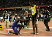 Justin Gatlin finally defeats Usain Bolt   And then did this   Respect 🙌: TDK  BOLT  OON 2017  15 Justin Gatlin finally defeats Usain Bolt   And then did this   Respect 🙌