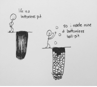 <p>Life is a bottomless ball pit!</p>: te isa  bottomless pt  o 50 i made mine  A bortomless <p>Life is a bottomless ball pit!</p>