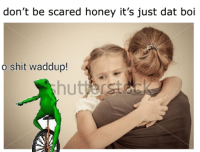 don't be scared honey it's just dat boi  o shit waddup! memes can b dremes if u dreme to meme