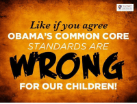 SO WRONG!: TEA PARTY  PATRIOTS  Like if you agree  OBAMA'S COMMON CORE  STANDARDS ARE  WRONG  FOR OUR CHILDREN! SO WRONG!