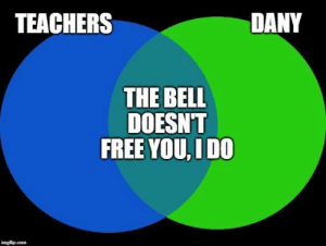 Game of Thrones, Free, and Bell: TEACHERS  DANY  THE BELL  DOESNT  FREE YOU, IDO Sent in by Stefan Milenkovic.