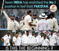 Emirates, India, and Pakistan: Team INDIA has snatched the No.1  position in test from PAKISTAN.  LA GHING  Emirates  l a u ghi ng colours .com  IS THIS THE BEGINNING Hurray!! Team India becomes no.1 test team..