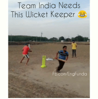 Aapke team me hai kya koi aisa player 😂😂 tag karo use...: Team India Needs  This Wicket Keeper  Fb.com/EngFunda Aapke team me hai kya koi aisa player 😂😂 tag karo use...