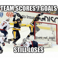 Goals, Lmao, and Logic: TEAM SCOREST GOALS  to Insu  nhl ref logic  STILL LOSES Lmao 😂 what a game tho! (Tag Some Buds) Follow Us @nhl.jokes