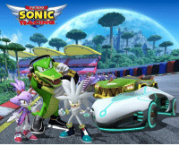 Silver the Hedgehog, Blaze the Cat, and Vector the Crocodile are coming to Team Sonic Racing!: TEAM  SONIC  RACING Silver the Hedgehog, Blaze the Cat, and Vector the Crocodile are coming to Team Sonic Racing!