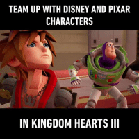 It's a dream come true! Tag the Disney and Pixar fans and invite them to join forces with the characters in @kingdomhearts III now. Play @kingdomhearts III here: http:-bit.ly-2WbiW1d - 9gag KingdomHearts III 9GAGKingdomHearts: TEAM UP WITH DISNEY AND PIXAR  CHARACTERS  IN KINGDOM HEARTS III It's a dream come true! Tag the Disney and Pixar fans and invite them to join forces with the characters in @kingdomhearts III now. Play @kingdomhearts III here: http:-bit.ly-2WbiW1d - 9gag KingdomHearts III 9GAGKingdomHearts