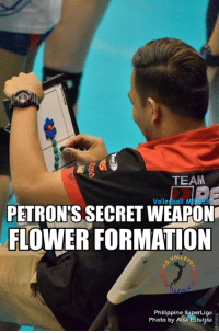 Formation, Flower, and Flowers: TEAM  Volleybal  Me  PETRONIS SECRET WEAPON  FLOWER FORMATION  NOLLE  Philippine SuperLiga  Photo by Aisa Estuista Alam nyo ba bakit Malakas ang Petron? ito ang sagot! HAHAHA.
