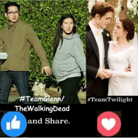 Memes, 🤖, and Walkingdead: TeamGlenn/  #TeamTwilight  The WalkingDead  and Share #TheWalkingDead fans, with Steven Yeun NOW MARRIED and having a baby, it would be great if I could get at least 2% OF YOU TO VOTE for him today. :)   Photo credit: Elliot Van Orman Productions