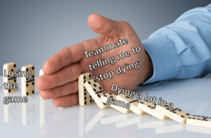 Dank, Memes, and Target: Teammate  telling me to  stop dying  2  LoSing  game  Dving a lot ina  lot in-a meirl by Qldkiwi789 MORE MEMES